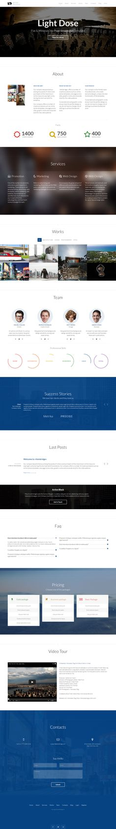 LightDose becomes WordPress Theme by ItemBridge , via Behance