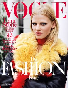 2b6c3baa Supermodel Lara Stone takes the cover of Vogue Netherlands September 2014  issue captured by fashion photographer Angelo Pennetta.