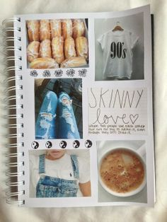 Skinny love ❤ uploaded by 。.。:+* on We Heart It Notebook Collage, Diy Notebook, Notebook Covers, Tumblr Scrapbook, Tumblr School, Skinny Love, Diy School Supplies, Hipster Fashion, Hipster Style