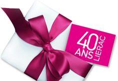 LIERAC a 40 ans : des remises sur de nombreux produits chez MonClubBeauté  http://www.monclubbeaute.com/promotions#s[8][]:3373&s[11][]:&rg:&sid:5&h:leftColumn Jusqu'au 31/12/2015