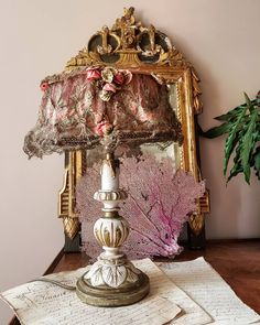 Candle Lamp, Candles, Wooden Table Lamps, Lamp Shades, Shabby, French, Lights, Instagram, Home Decor
