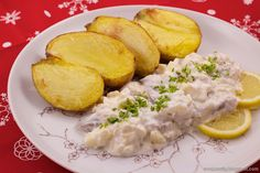 Herring with baked potatoes