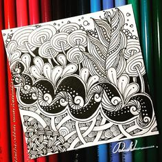 Zentangle 070216. Welcome to visit my FB Fan Page : http://www.facebook.com/Rebecca.Zentanglebox
