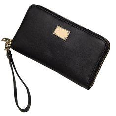 Sale 10% (14.99$) - Women Zipper Long Wallet Girls Candy Color Purse Card Holder Coin Bags Clutches 5.5\'\' Phone Case
