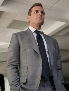 """Grey 2 Piece Suit Inspired By Suit Worn By Harvey Specter In """"Suits"""" Tv Series Serie Suits, Suits Tv Series, Suits Tv Shows, Suits Usa, Mens Suits, Harvey Specter Suits, Suits Quotes, Gabriel Macht, Suit Shop"""