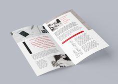 Bi-fold DL Leaflet Mockup #free #psd #photoshop #brochure