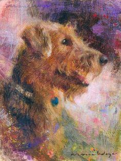 Custom Pet Portrait - Oil painting - Dog Portrait - Oil Portrait - Dog Painting - Airedale Art - Airedale Terrier - Dog Art - Dog Lover Gift ________ Woof! Look at these nice doggies! Dont you love their fluffy fur and playful expressions? Are their smiles melting your heart? You can ask me to paint your fur babies. This here is a pair of 8x10 inches (20x25cm) portraits, zoomed in to show the head and shoulder of these elegant terriers.  I absolutely loved painting these two airedale…