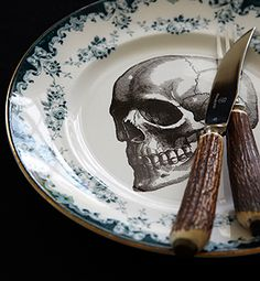 REfired Skull Plates - Now this is my kind of  fine china!
