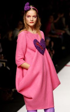 A model walks the runway in the Agatha Ruiz De La Prada show during Milan Fashion Week Womenswear Autumn/Winter 2009 on March 3, 2009 in Milan, Italy.
