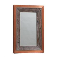 Manhattan Copper and Wood Large Wall Mirror