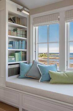 50 Pervect Window Nook Design Ideas To Get Cozy Space In Your Home - Page 27 of 50 Bedroom Reading Nooks, Bedroom Nook, Bedroom Corner, Home Decor Bedroom, Reading Room, Bedroom Built Ins, Bedroom Girls, Bookshelf Design, Bookshelves