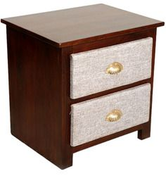 Panama City Bed Side Table in Colonial Maple Finish by Woodsworth