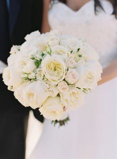 Juliette Rose bouquet: http://www.stylemepretty.com/2014/11/20/elegant-beach-wedding-in-bridgehampton-new-york/   Photography: Charlotte Jenks Lewis - http://charlottejenkslewis.com/