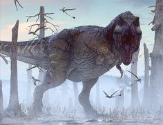 Stand To by Herschel-Hoffmeyer on DeviantArt Jurassic World Dinosaurs, Jurassic Park World, Dinosaur Drawing, Dinosaur Art, Prehistoric World, Prehistoric Creatures, Tiranosauro Rex, Dinosaur Pictures, The Good Dinosaur
