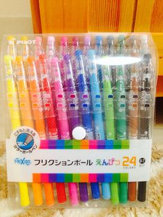 Set of 24 Colors - Black, Gray, Brown, Dark Brown, Green, Deep Green, Light Green, Navy, Light Blue, Sky Blue, Blue, Violet, Purple, Reddish