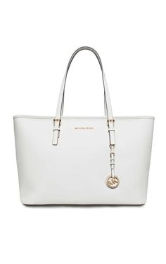 Väska Jet Set Travel MD TZ Mult Funt Tote OPTIC WHITE/GOLD - Michael - Michael Kors - Designers - Raglady