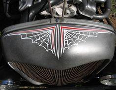 Spider web pin stripes