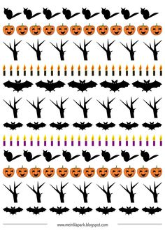 free printable planner stickers and scrapbooking papers Halloween Paper Crafts, Halloween Kids, Happy Halloween, Halloween Decorations, Printable Planner Stickers, Free Printables, Halloween Borders, Free Planner, Planner Ideas