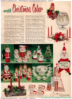 1961 Montgomery Ward Christmas Book, Page 243 - Christmas Catalogs & Holiday Wishbooks Christmas Catalogs, Christmas Books, Retro Christmas, Christmas Images, Vintage Holiday, Christmas Wishes, All Things Christmas, Christmas Holidays, Christmas Crafts