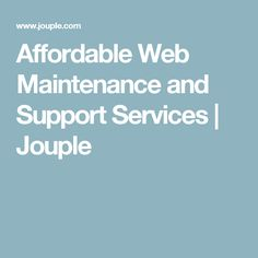 We provide Affordable Web maintenance and support services to repair, update, and maintain a website when you need. Hiring our web support services. Web Support, Software Development, Accounting