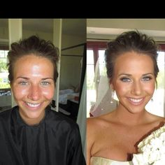 Airbrushed Before & After! Full wedding {it's gorgeous} on www.BridesByBrittany.com