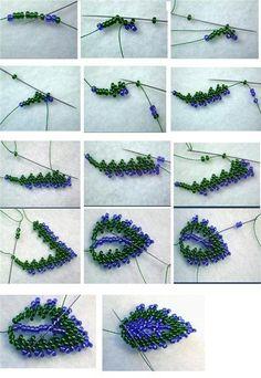 7 beaded leaves tutorials