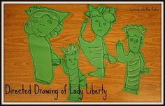 Learning With Mrs. Parker: Directed Drawings of Lady Liberty