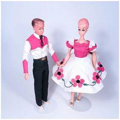 Vintage Clone Barbie & Ken Square Dancers Boy Doll, Girl Dolls, Vintage Barbie Dolls, Barbie And Ken, Dance Costumes, Golden Age, Dancers, Doll Clothes, Harajuku