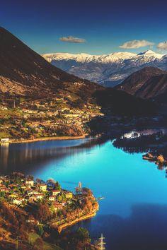 Lake Endine, Bergamo, Italy. Near Milan. Lake Garda