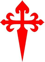 The Cross of Saint James, the symbol of the Order of Santiago; the hilt is surmounted with a scallop. San Santiago, Sons Of Zebedee, St James The Greater, Cross Symbol, Templer, Saint James, Knights Templar, Symbolic Tattoos, Pilgrimage
