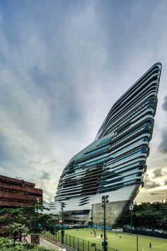 Innovation Tower at Hong Kong Polytechnic University by Zaha Hadid