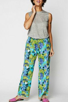 The Suva-print Punjammies® are ethically-made loungewear with turquoise 5829f0e03