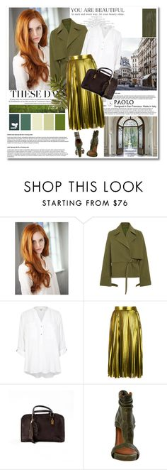 """""""In PaoloShoes"""" by spenderellastyle ❤ liked on Polyvore featuring Rosie Assoulin, River Island and Gucci"""