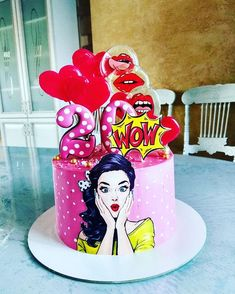 Birthday cake easy cute desserts Ideas for 2019 Beautiful Birthday Cakes, Cool Birthday Cakes, Birthday Cake Girls, Beautiful Cakes, Fondant Cakes, Cupcake Cakes, Buttercream Cake, Festa Pin Up, Funny Candles