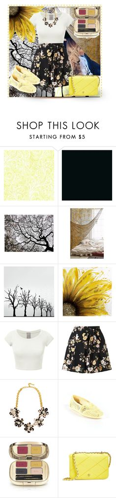 """Dashes of Sun"" by xlainyboo ❤ liked on Polyvore featuring York Wallcoverings, Magical Thinking, Dot & Bo, Miss Selfridge, BaubleBar, TOMS, Dolce&Gabbana and Tory Burch"