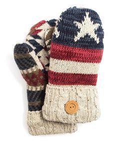 Red Americana Mittens #zulily #zulilyfinds
