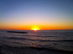 Sunset of the Sea of Japan in autumn