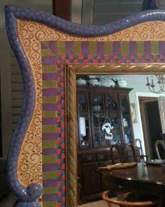 Handpainted Mirror Frame by Texas Artist J.L.Remy.....Special Order