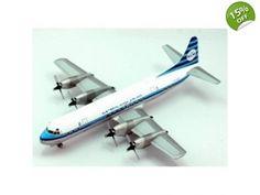 AV2188001 Aviation 200 KLM L-188 Electra Model Airplane REG PH-LLD