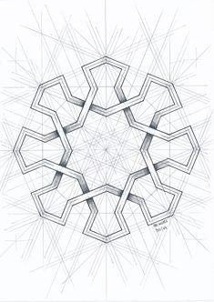 Islamic Art Pattern, Arabic Pattern, Geometry Pattern, Pattern Art, Geometric Drawing, Geometric Designs, Geometric Shapes, Sacred Geometry Art, Math Art