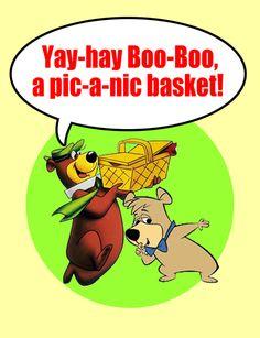 Yogi Bear and Boo-Boo.