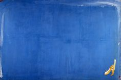 https://www.centrepompidou.fr/id/caj9La7/rBA9ddX/fr Olivier Debré, Bleu tache jaune (Grande bleu), 1965