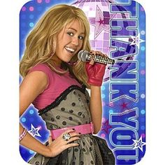 Hannah Montana Rock The Stage Thank You Notes