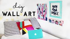 DIY Wall Art | Budget Room Decor For Dorm Rooms - YouTube