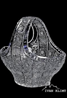 Košík * ručně broušené sklo, český křišťál * Bohemia Crystal CZ.