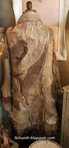 Nuno felt ruffle coat made for Romantique Boutique
