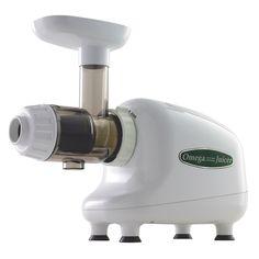 Omega 8003 Low Speed Masticating Juicer, White