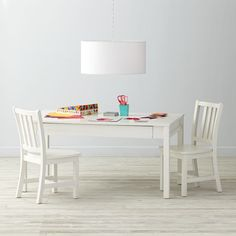 Shop Adjustable White Activity Table & 2 Parker Play Chairs.  It can't take your kids to chess club or give them piano lessons, but our Adjustable Activity Table can give them a place to play.