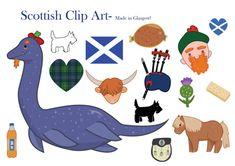 Scotland Clipart Scottish clip art loch ness by LittleRagdollCat