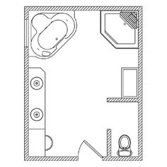 Bathroom Floorplan 101 From Kohler. Need To Make This 12x16 Plan Work For A  7x9